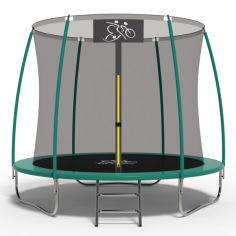Акция на Батут FitToSky 312C см с внутренней сеткой + лестница от Allo UA