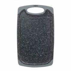 Акция на Доска разделочная 40 х 24 х 0.8 см пластиковая серый мрамор Kamille КМ-10059 от Allo UA