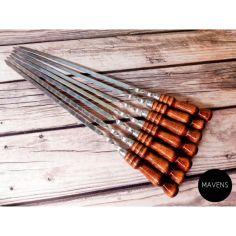 """Акция на Набор шампуров Mavens """"Luxury"""" с деревянной ручкой, 9 шт от Allo UA"""