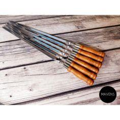 """Акция на Набор шампуров Mavens """"Премиум"""" с деревянной ручкой, 12 шт от Allo UA"""