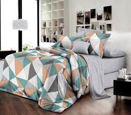 Акция на Комплект постельного белья MirSon Бязь 17-0450 Multicolored rhombuses 220х240 (2200003086546) от Rozetka