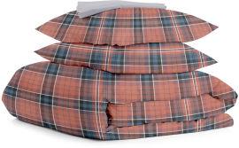 Акция на Комплект натурального постельного белья Cosas 200х220 ScottishBordo_Grey (4822052059555) от Rozetka
