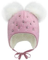 Акция на Зимняя шапка с завязками David's Star 2065 44 см Розовая (ROZ6400021852) от Rozetka