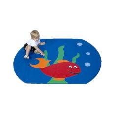 Акция на Детский мат-коврик для развития Tia-sport Рыбка 120х80х3 см (sm-0020) от Allo UA