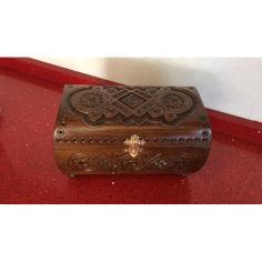 Акция на Шкатулка сувенирная деревянная ручной работы 19.5*11*12 см от Allo UA