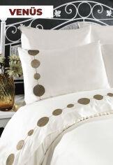 Акция на Постельное белье Venus сатин с вышивкой Arya Двуспальный евро комплект от Podushka
