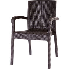 Акция на Кресло VIOLET HOUSE 0840 Роттанг Coffee Trend Lux от Foxtrot