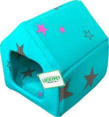 Акция на Домик для собак и кошек Lucky Pet Джесси №1 30 x 33 x 33 см Бирюзовый (4820224211961) от Rozetka
