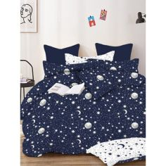 Акция на Постельное белье Zastelli Stars on Blue бязь двуспальный 175*210 от Allo UA