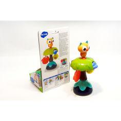 Акция на Игрушка на присоске, погремушка в виде совушки филина, с грызунком, пальчиковым лабиринтом и колесиком-крутилкой, Hola Toys, разноцветная. от Allo UA