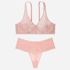 Акция на Комплект Victoria's Secret 513491685 34С/S Розовый (1159753047) от Rozetka
