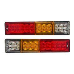 Акция на Задние LED фонари, на прицеп, на трактор, на грузовик 12 и 24 Вольта (240х55мм) от Allo UA