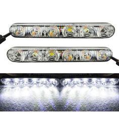 Акция на Качественные LED ДХО металлический корпус! По 6 диодов в каждой. 12В. Светодиодные дневные ходовые огни. от Allo UA