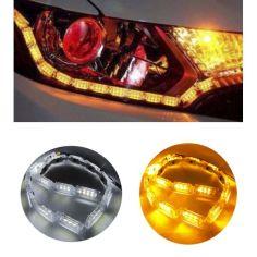 Акция на LED ДХО + бегущий поворот 60 см! Цепные дхо, новое поколение! В фару любой конфигурации. Дневные ходовые огни. от Allo UA