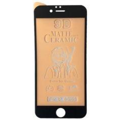 Акция на Защитное гибкое стекло Matte Ceramic Glass 9D для iPhone 6/6s/7/8/SE 2020/6 plus/7 plus/8 plus с черной рамкой от Allo UA