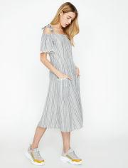 Акция на Платье Koton 8YAK88667PW-02Y 34 Grey Stripe (8681953120292) от Rozetka