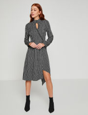 Акция на Платье Koton 8YAK86011IW-16W 34 Black Check (8681741863103) от Rozetka