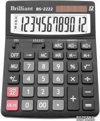 Акция на Калькулятор электронный Brilliant 12-разрядный (BS-2222) от Rozetka
