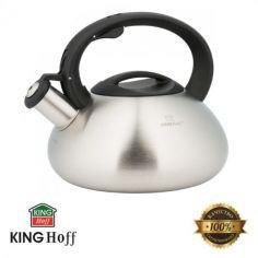 Акция на Чайник цельнолитой из нержавеющей стали KingHoff 3 л KH-3269 от Allo UA