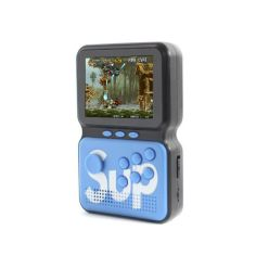 Акция на Портативная игровая ретро консоль Game Box Power Sup M3 Blue 900 в 1 от Allo UA