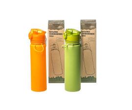 Акция на Бутылка силиконовая Tramp 700 мл оливковая от Flagman