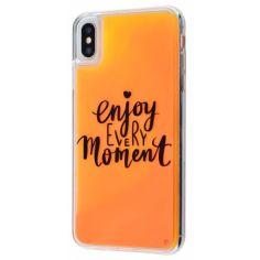 "Акция на TPU+PC чехол Lovely Stream Neon sand для Apple iPhone X / XS (5.8"") Enjoy every Moment от Allo UA"