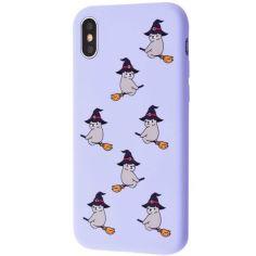 """Акция на TPU чехол WAVE Fancy для Apple iPhone X / XS (5.8"""") Bear on broom / Light purple от Allo UA"""