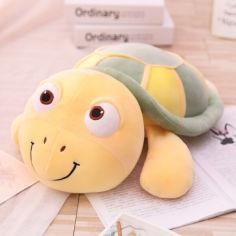 Акция на Мягкая игрушка - подушка Веселая черепашка, 65см Berni Kids Зеленый (52868) от Allo UA