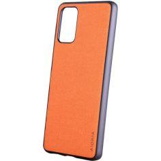 Акция на Чехол AIORIA Textile PC+TPU для Samsung Galaxy S20 FE Оранжевый от Allo UA