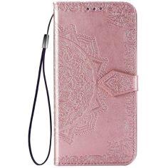 Акция на Кожаный чехол (книжка) Art Case с визитницей для Oppo A53 / A32 / A33 Розовый от Allo UA