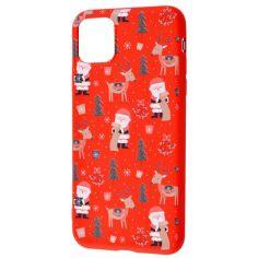 """Акция на TPU чехол WAVE Fancy для Apple iPhone 12 Pro Max (6.7"""") Santa Claus and Deer / Red от Allo UA"""