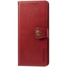 Акция на Кожаный чехол книжка GETMAN Gallant (PU) для Oppo A53 / A32 / A33 Красный от Allo UA