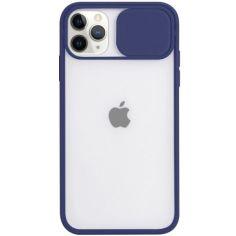 """Акция на Чехол Camshield mate TPU со шторкой для камеры для Apple iPhone 12 Pro / 12 (6.1"""") Синий от Allo UA"""