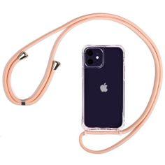 """Акция на Чехол TPU Crossbody Transparent для Apple iPhone XS Max (6.5"""") Розовый от Allo UA"""