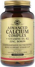 Акция на Solgar Advanced Calcium Complex + Vitamins D3, K2, Zinc, Boron Солгар Расширенный Комплекс Кальций + Витамины D3, К2, Цинк, Бор 120 капсул от Y.UA