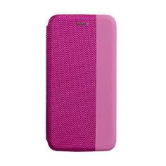 Акция на Чехол-книжка для Huawei P40 Lite Кожзам и текстиль, Розовый / Серый / Голубой / Красный от Allo UA