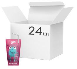 Акция на Упаковка напитка Zeus Multifruit Мультифруктового 200 мл х 24 шт (8586009850133) от Rozetka