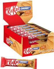 Акция на Упаковка батончиков KitKat Чанки Арахисовая паста 42 г х 24 шт (3800020405574) от Rozetka