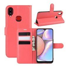 Акция на Книжка с карманами для карт для Samsung Galaxy A10s цвет Красный (064316) от Allo UA