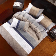 Акция на Комплект постельного белья MirSon Бязь 17-0461 Jarron King Size (2200003222319) от Rozetka