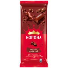 Акция на Шоколад черный пористый Корона, 80 г от Auchan