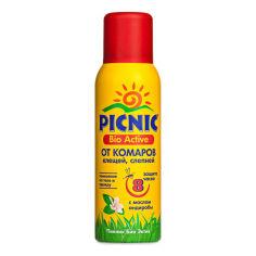 Акция на Аэрозоль от комаров и клещей Picnic Bio Active 125 мл  ТМ: Picnic от Antoshka