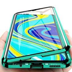 Акция на Чехол магнитный с защитным стеклом для Xiaomi Redmi 9A цвет Зелёный (085768_9) от Allo UA