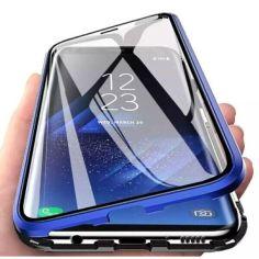 Акция на Чехол магнитный с защитным стеклом для Samsung Galaxy A10s цвет Синий (064368_4) от Allo UA