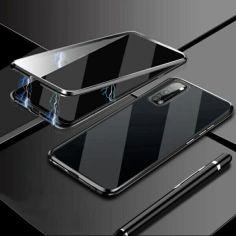 Акция на Чехол магнитный с защитным стеклом для Oppo A52 цвет Чёрный (150668_1) от Allo UA