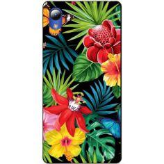 Акция на Чехол силиконовый Candy для ZTE Blade L8 с рисунком Тропические цветы от Allo UA
