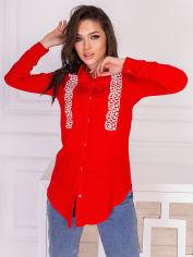 Акция на Рубашка Olliviya 6025 46 Красная (4821000060629) от Rozetka