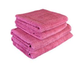 Акция на Махровое полотенце Terry Lux Cubes pink розовое 50х90 см от Podushka