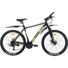 "Акция на Велосипед ROVER X70 AIR 27,5"" 20"" black - white - yellow 2021 от Allo UA"
