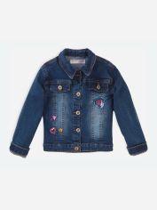 Акция на Джинсовая куртка Minoti Skittles 3 16375 110-116 см Синяя (5059030477912) от Rozetka